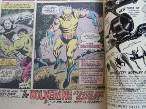 The Incredible Hulk 180 Wolverine Page