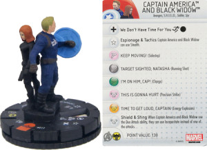 Heroclix Captain America Winter Soldier with Black Widow