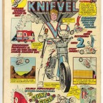 The Amazing Spider-Man #129 Back Cover Evel Knievel