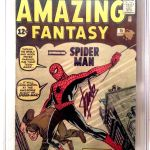 Amazing Fantasy #15 Comic Book CGC 4.5 Signed By Stan Lee Sold For $14,500.00