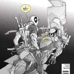 Death of Wolverine #1 Deadpool Variant Cover